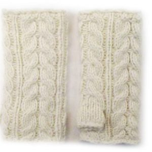 Aran Cable Handwarmer White