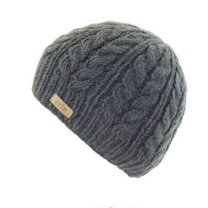 Aran Cable Pullon Hat Charcoal