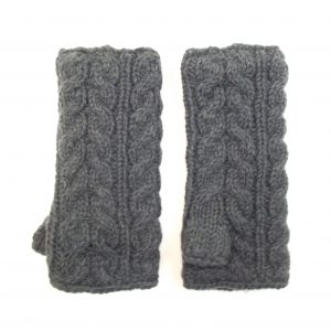 Aran Cable Handwarmer Charcoal