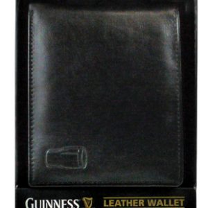 Guinness Classic Black Leather Wallet