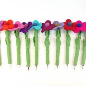 Felt Flower Pens
