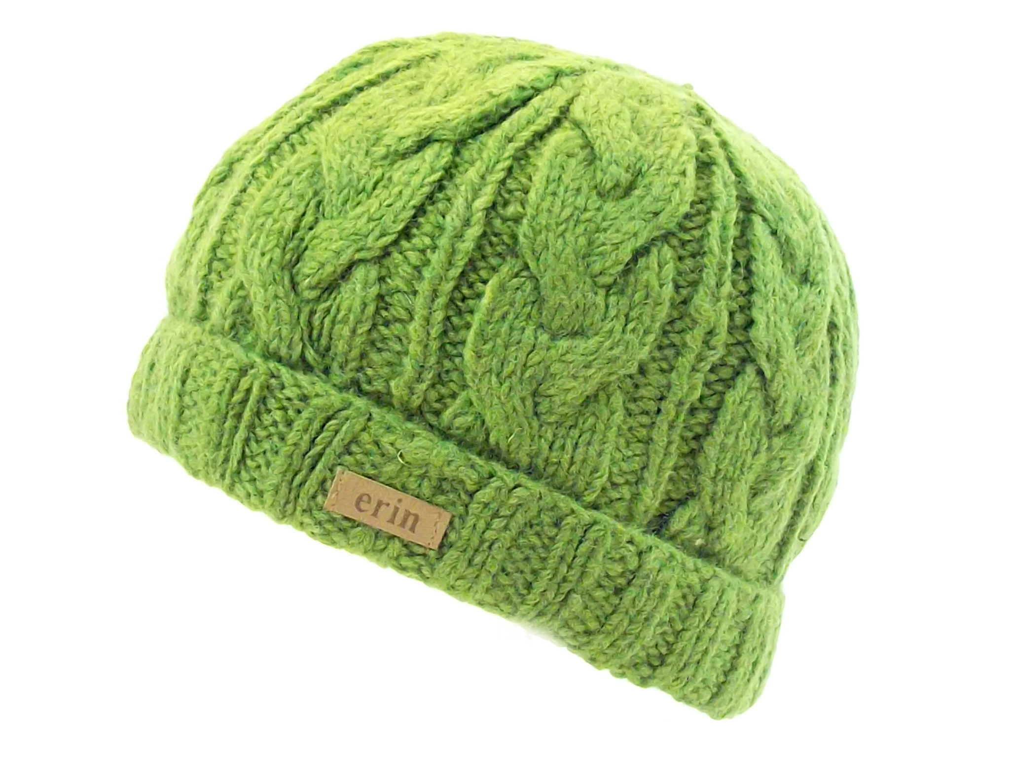 f44bf6de7 Aran Cable Turnup Hat Green