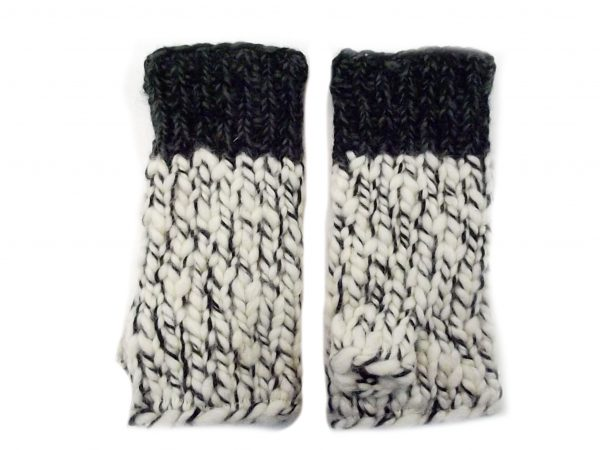 Uneven Wool Hand Warmers Charcoal