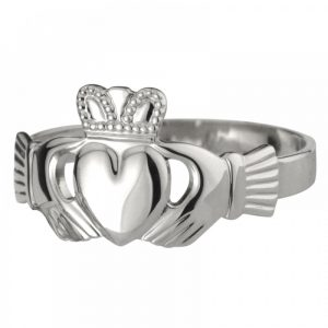 Sterling Silver Heavy Weight Ladies Claddagh Ring