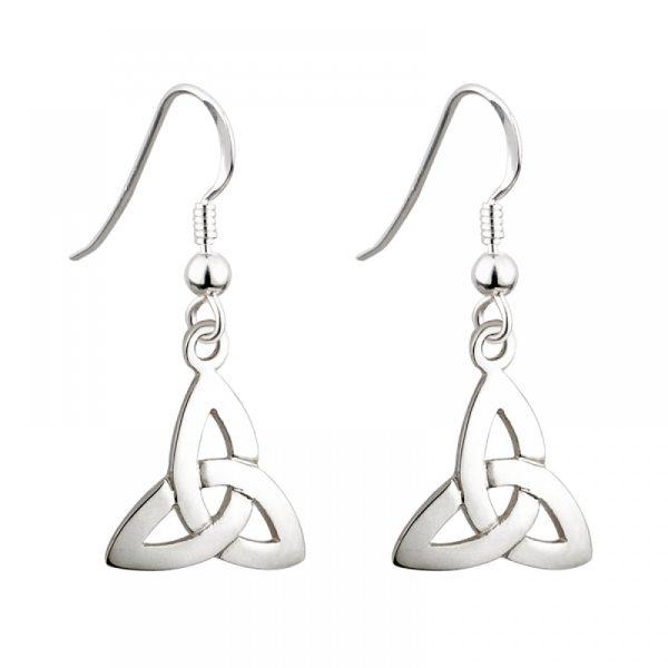 Solvar Sterling Silver Trinity Knot Drop Earrings