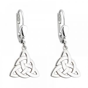 Solvar Sterling Silver Trinity Knot Drop Earrings