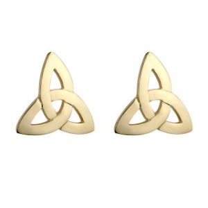 10k Gold Medium Trinity Knot stud earrings