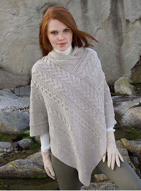 Ladies Aran cape.