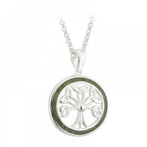 Sterling Silver Connemara Marble Tree of Life Pendant